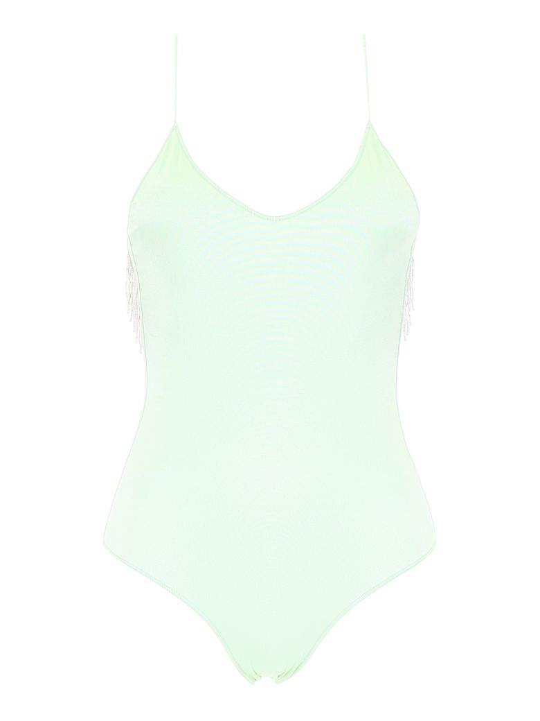 Oseree Swimsuit With Beads - AQUA (Green)