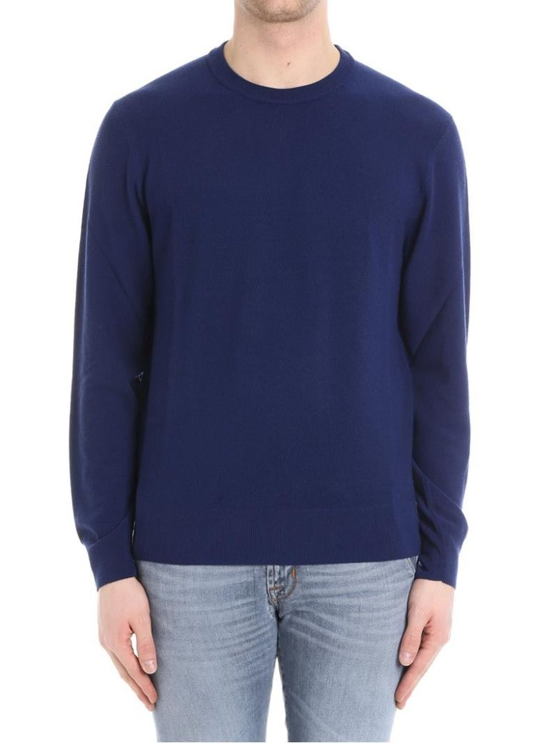 Brooks Brothers Round Neck Wool - Blue