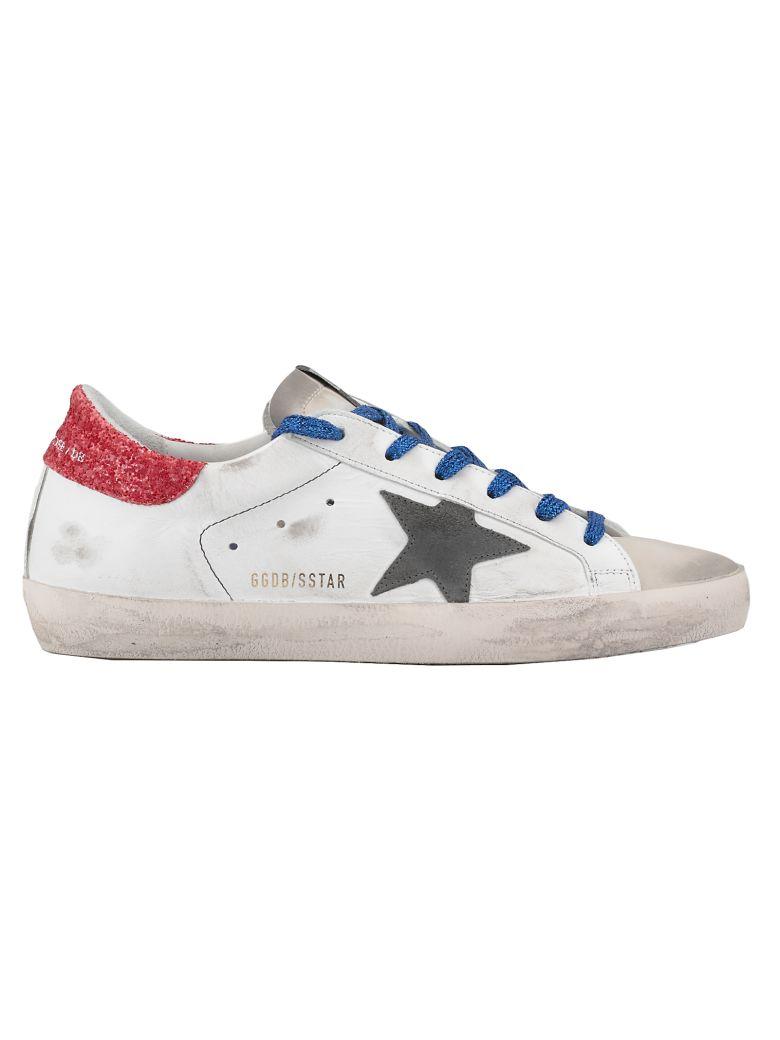 Golden Goose Superstar Sneaker - WHITE-AMERICAN FLAG-BLUETTE LA