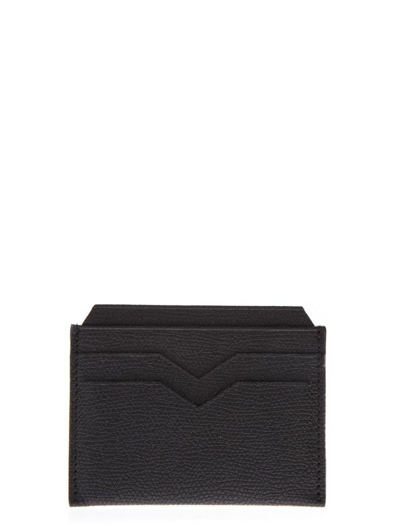 Valextra Black Leather Card Holder - Black