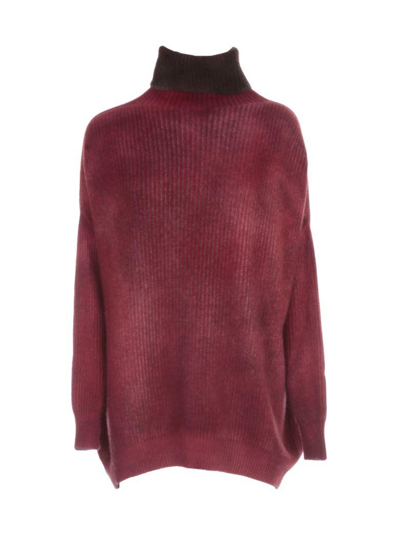 Avant Toi Oversized High Neck Bicolor Sweater - Carruba