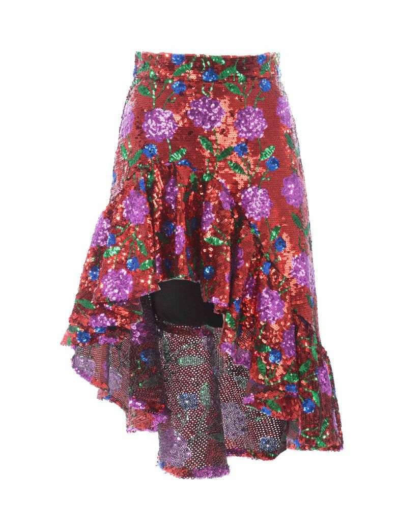 Giuseppe di Morabito Sequin Embellished Skirt - Rosso/fucsia