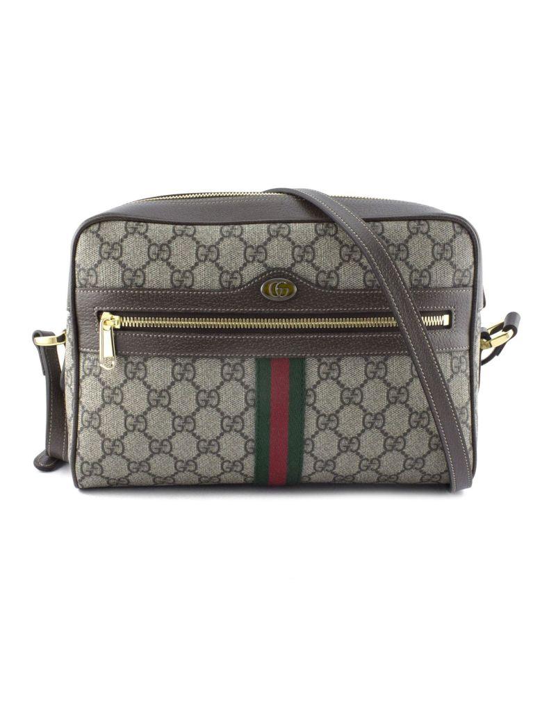 Gucci Ophidia Gg Supreme Canvas Shoulder Bag - Beige