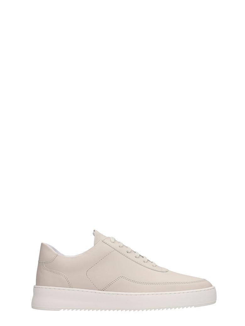 Filling Pieces Beige Leather Low Mondo Ripple Sneakers - Beige