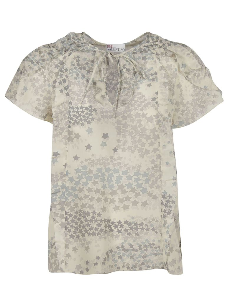 RED Valentino Star Print Top - grey