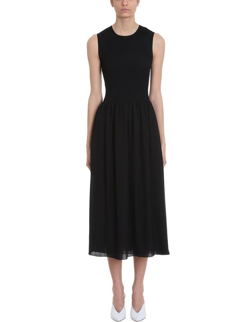 Theory Black Silk Dress - black