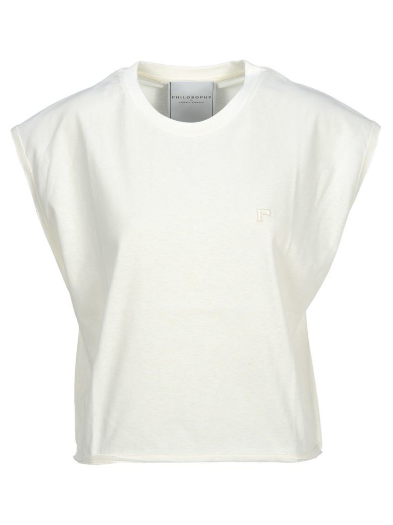 Philosophy di Lorenzo Serafini Philosophy Philosophy Embroidered Logo T-shirt - WHITE