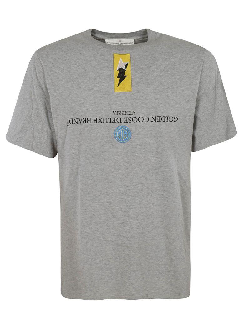 Golden Goose Patch Detail T-shirt - Grey