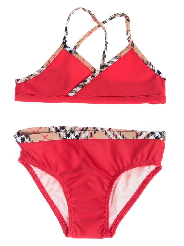 Burberry Kids Crosby Two-piece House Check Swimsuit