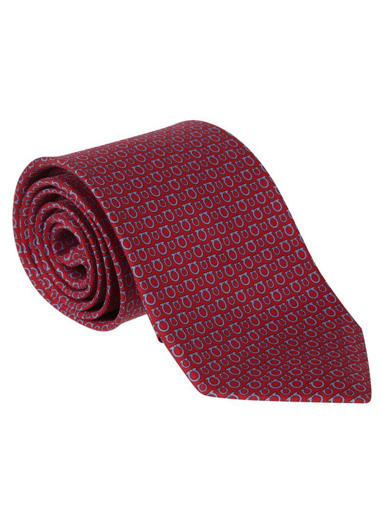 Salvatore Ferragamo Patterned Tie - Red/light blue