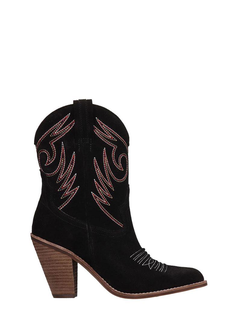 Jeffrey Campbell Black Suede Ankle Boots - black