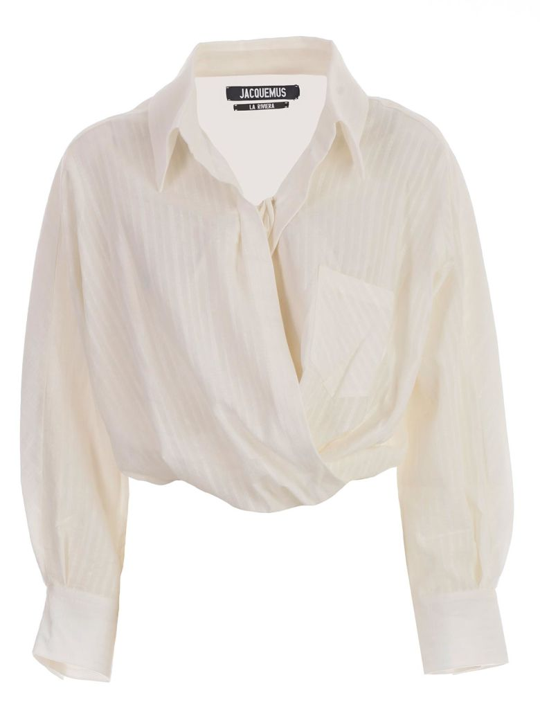 Jacquemus Cropped Blouse - Off White
