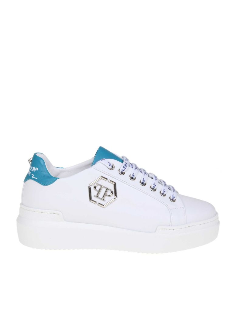 Philipp Plein Sneakers Lo-top Sneakers In White Leather - Basic