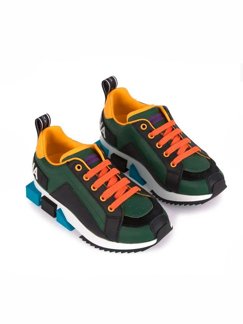 Dolce & Gabbana Dolce E Gabbana Kids Sneakers - Verde/giallo