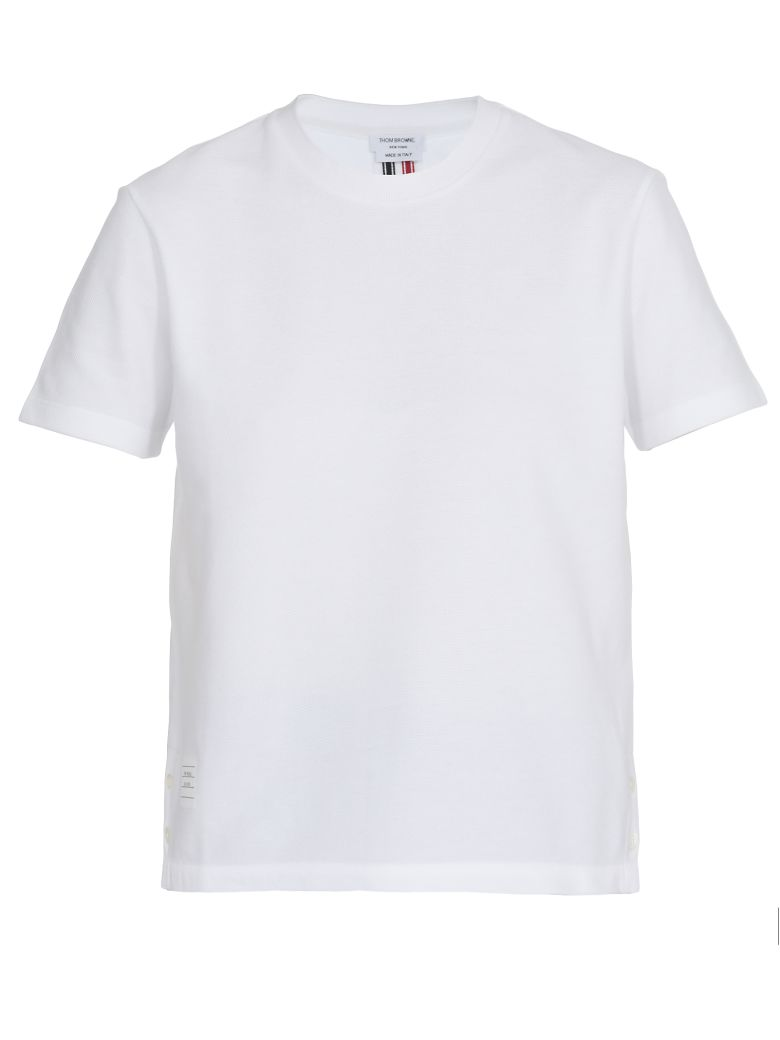 Thom Browne Cotton T-shirt - WHITE