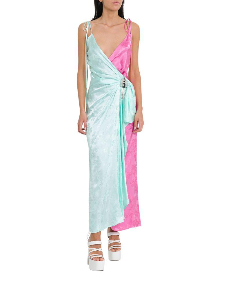 ATTICO Floral Jacquard Long Dress - Multi