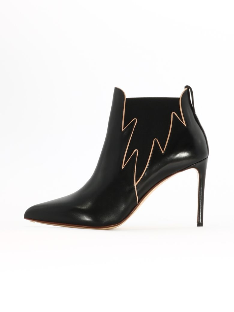 Francesco Russo Flame Ankle Boot - Black
