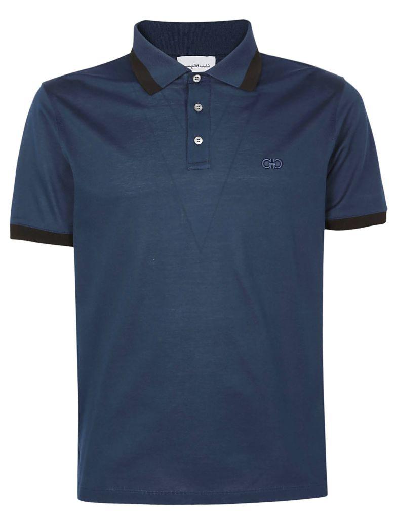 Salvatore Ferragamo Polo Shirt - Petrol/nero