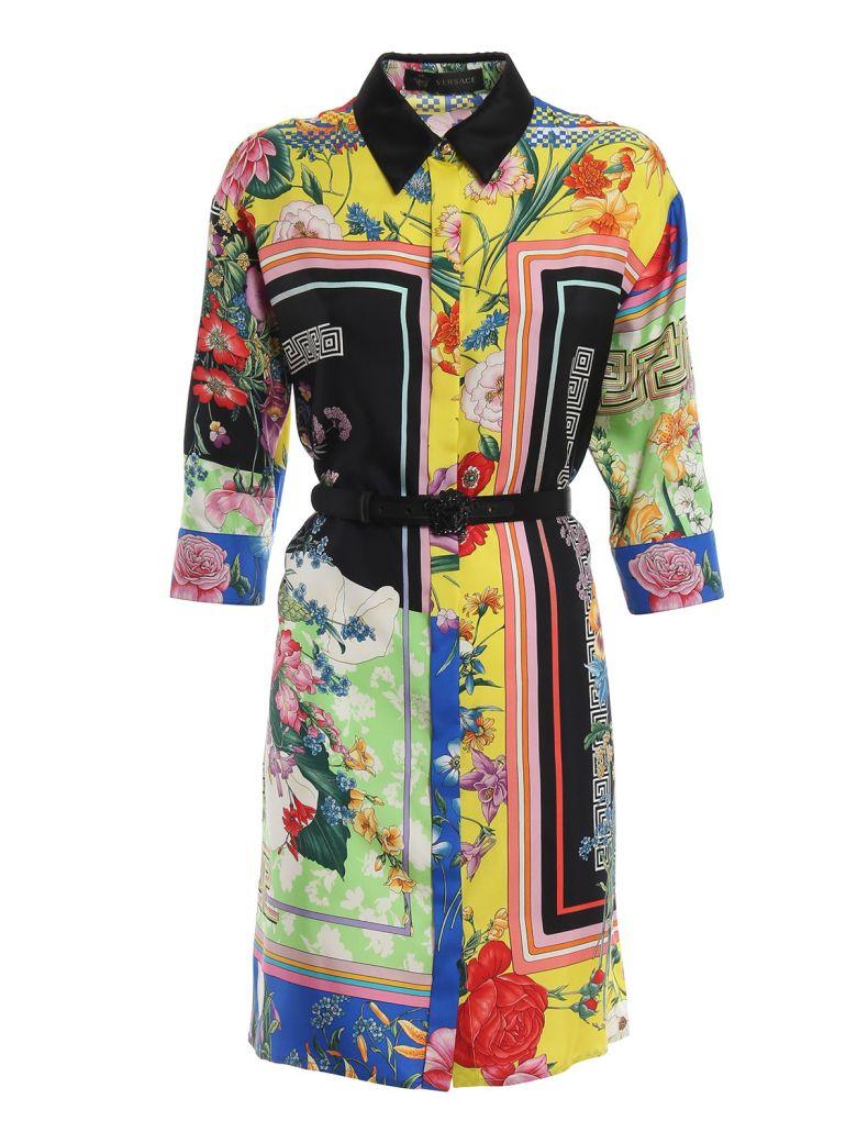 Versace Floral Shirt Dress - Multicolor