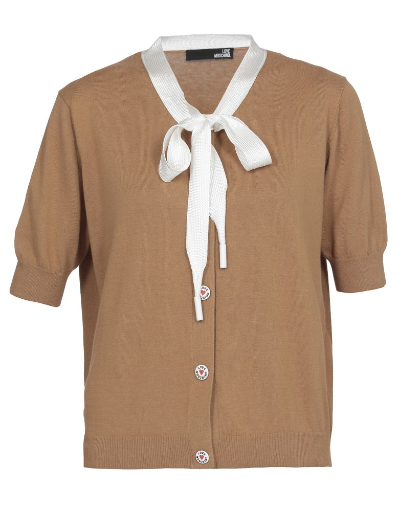 Love Moschino Cotton Cardigan - BROWN
