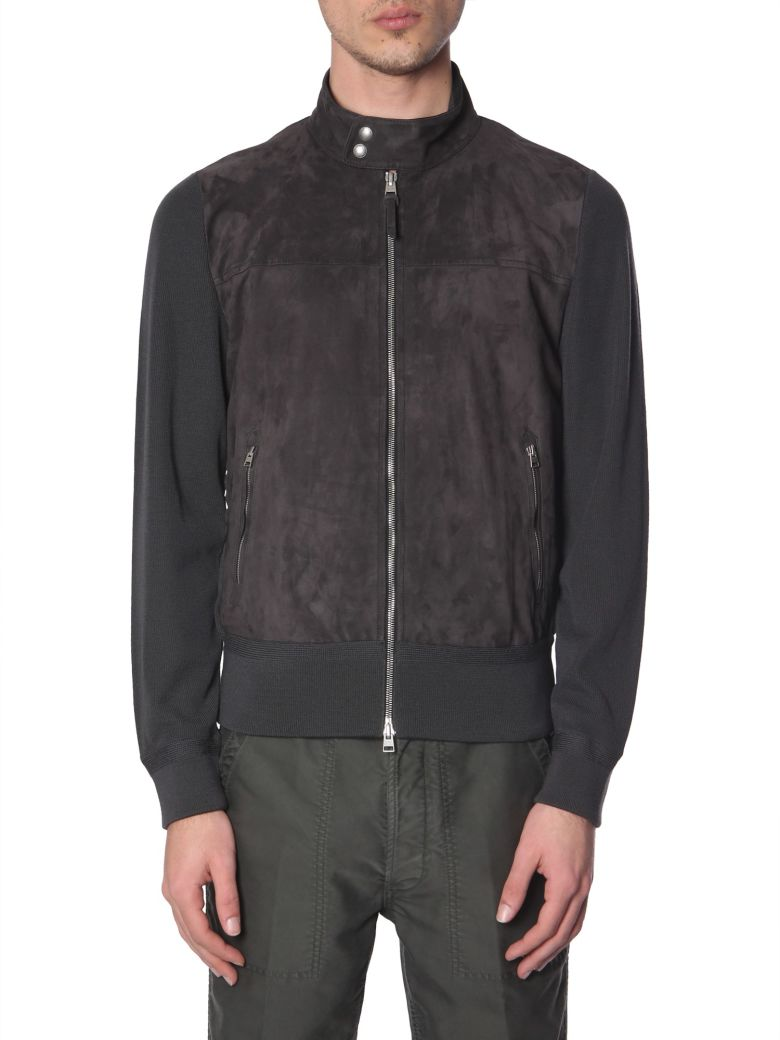 Tom Ford High Neck Jacket With Zip - GRIGIO