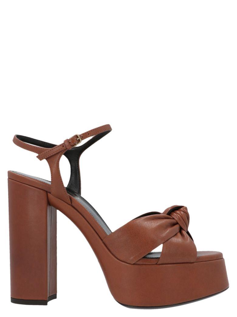 Saint Laurent 'bianca' Shoes - Marrone