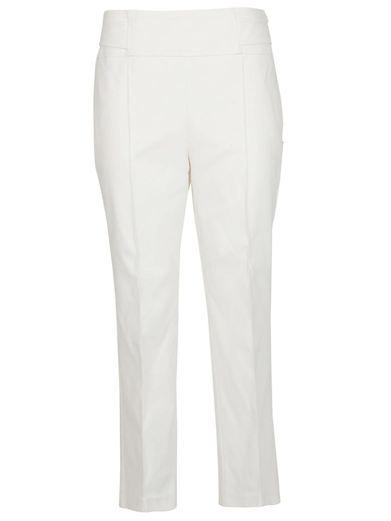 SportMax Skinny Fit Trousers - White