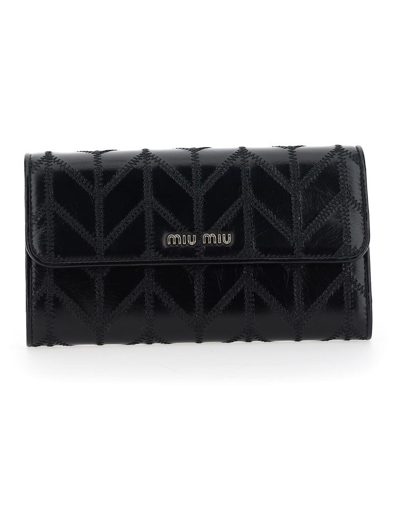 Miu Miu Chain Wallet - Nero