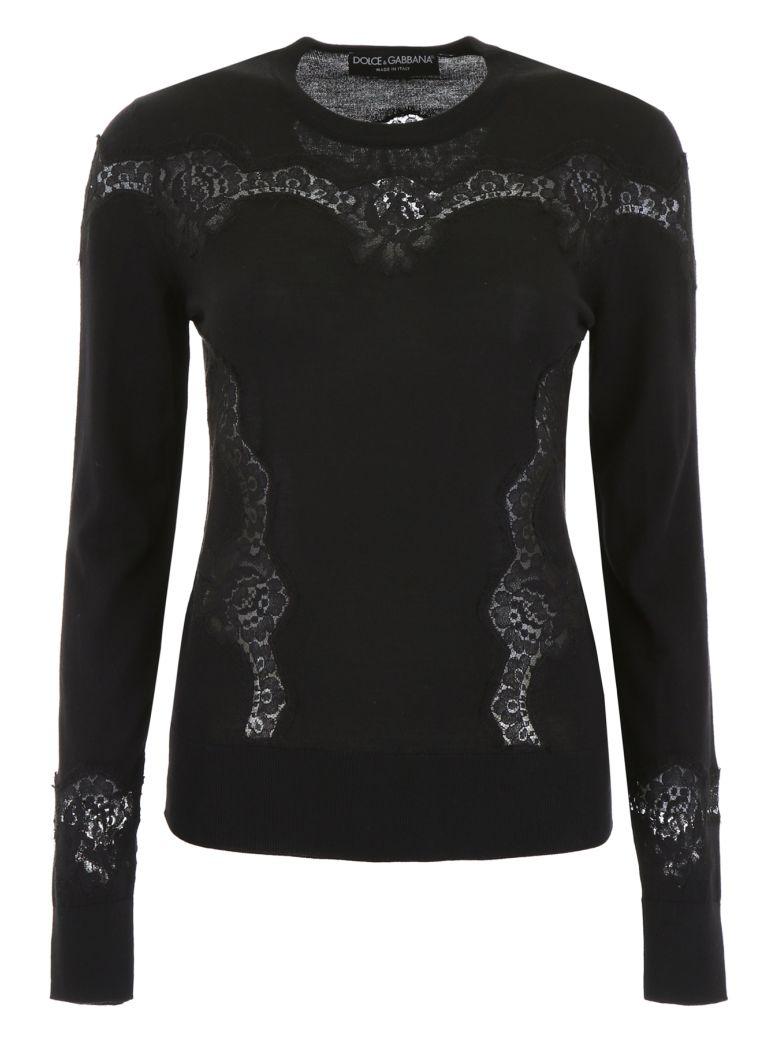 Dolce & Gabbana Pullover With Lace - NERO|Nero