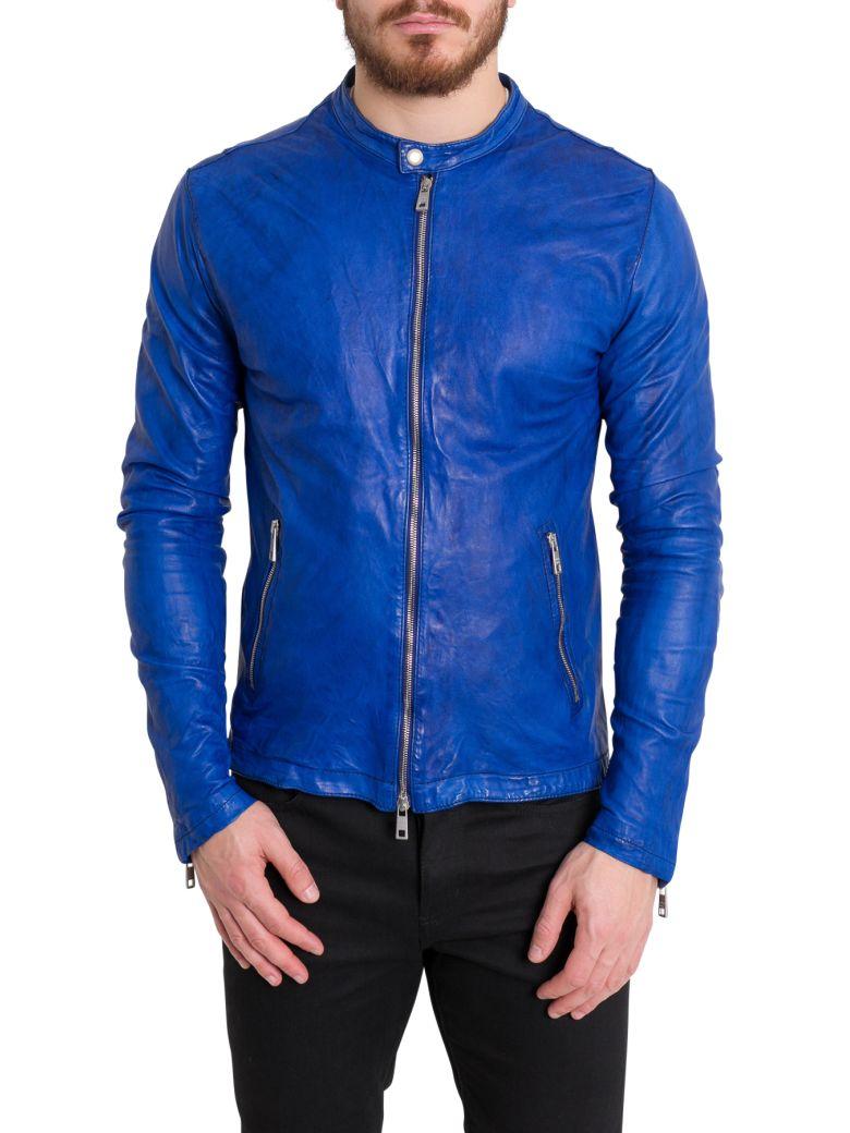 Giorgio Brato Leather Biker Jacket - Blu