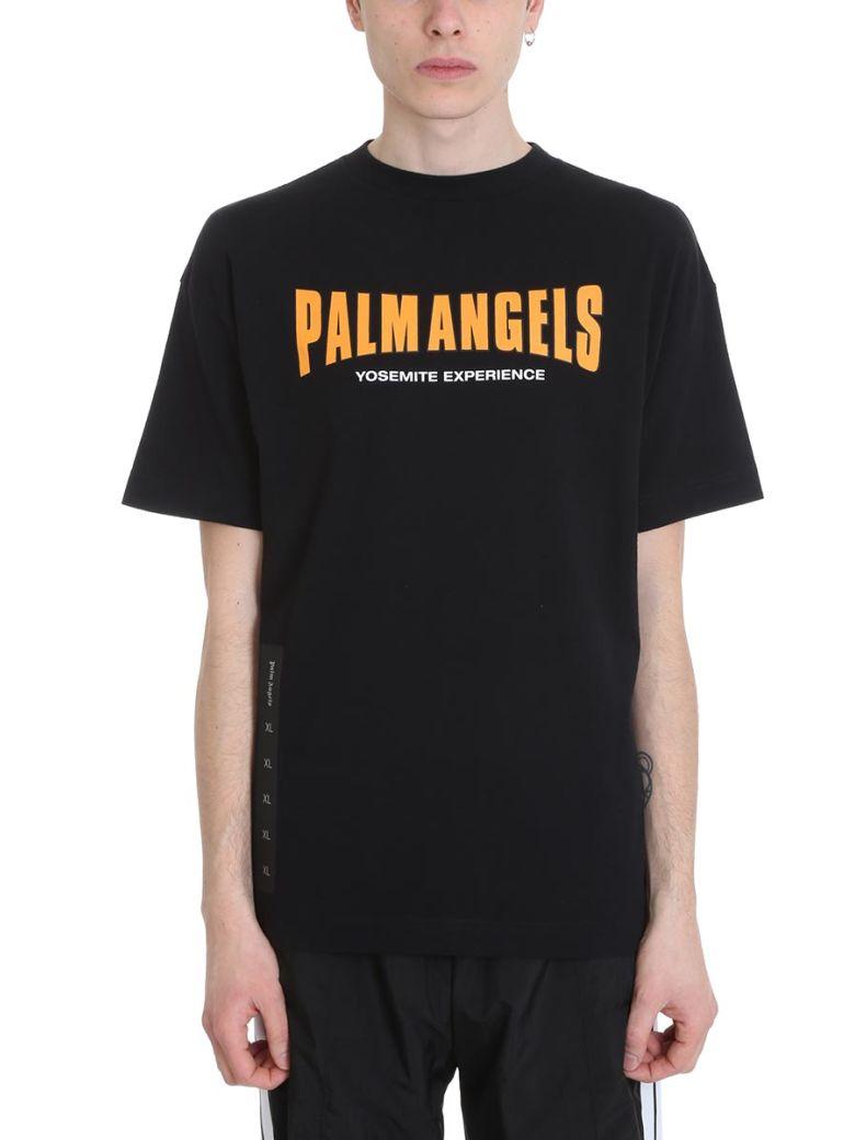 Palm Angels Vintage Logo Black Cotton T-shirt - Black