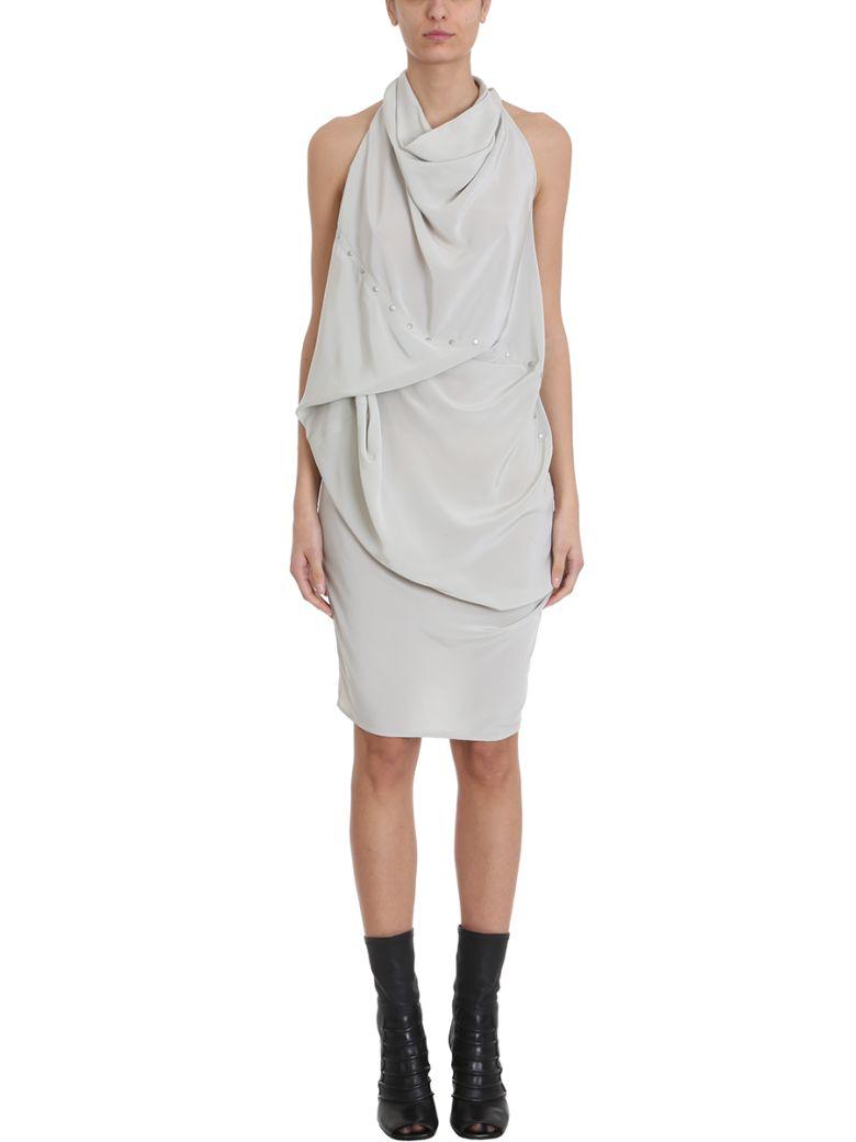 Rick Owens Ellipse Tunic Sleeveless Cotton And Silk-blend Mid-length Dress - grey