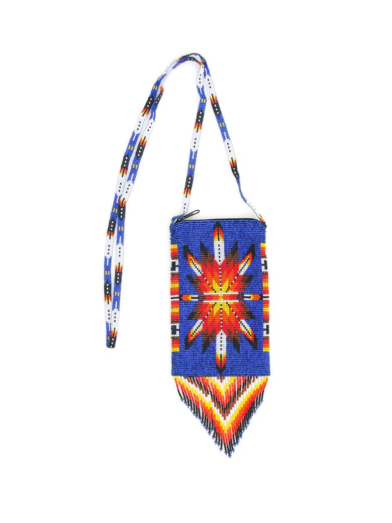 Jessie Western Small Beaded Bag - MULTICOLOR (Blue)