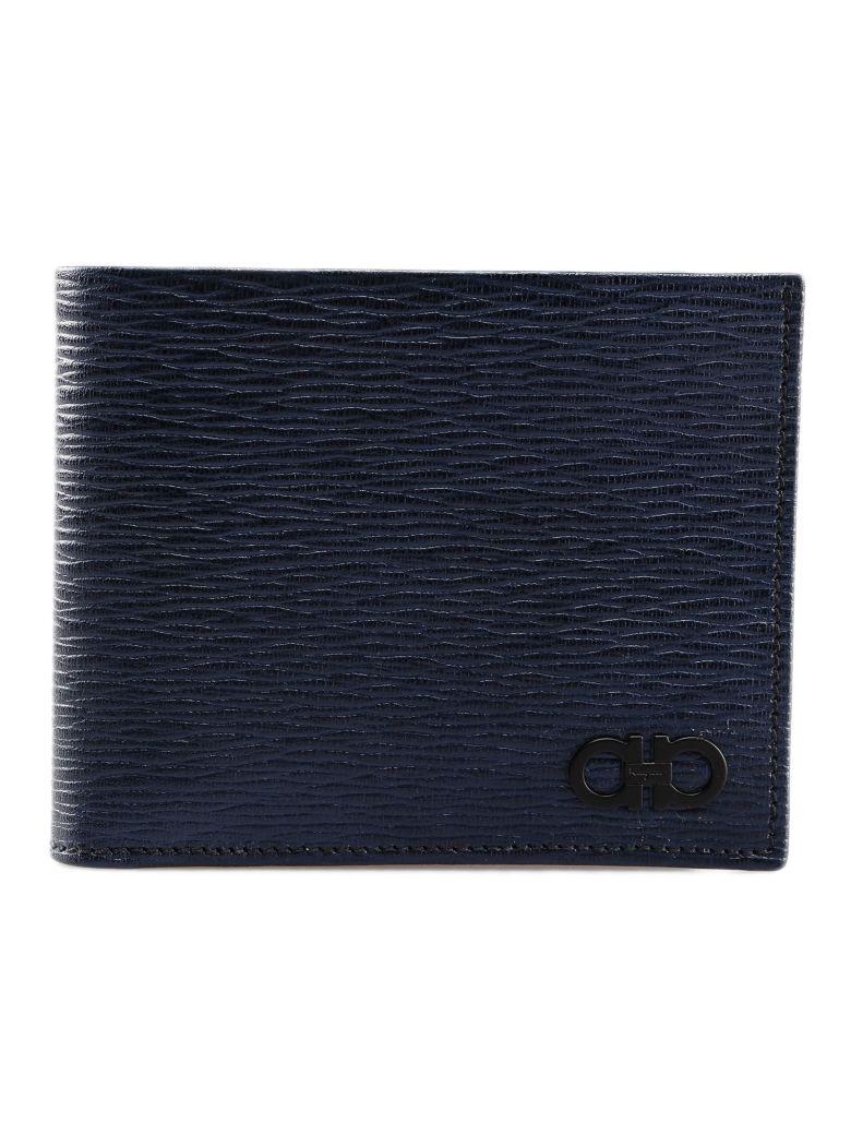 Salvatore Ferragamo Embellished Bi-fold Wallet - Blue