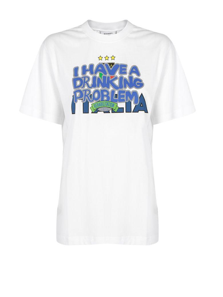 VETEMENTS - Vetements T-shirt - White