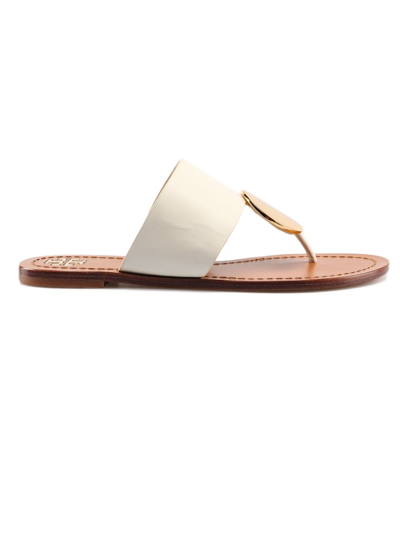 Tory Burch Disc Thong Sandals - Ivory