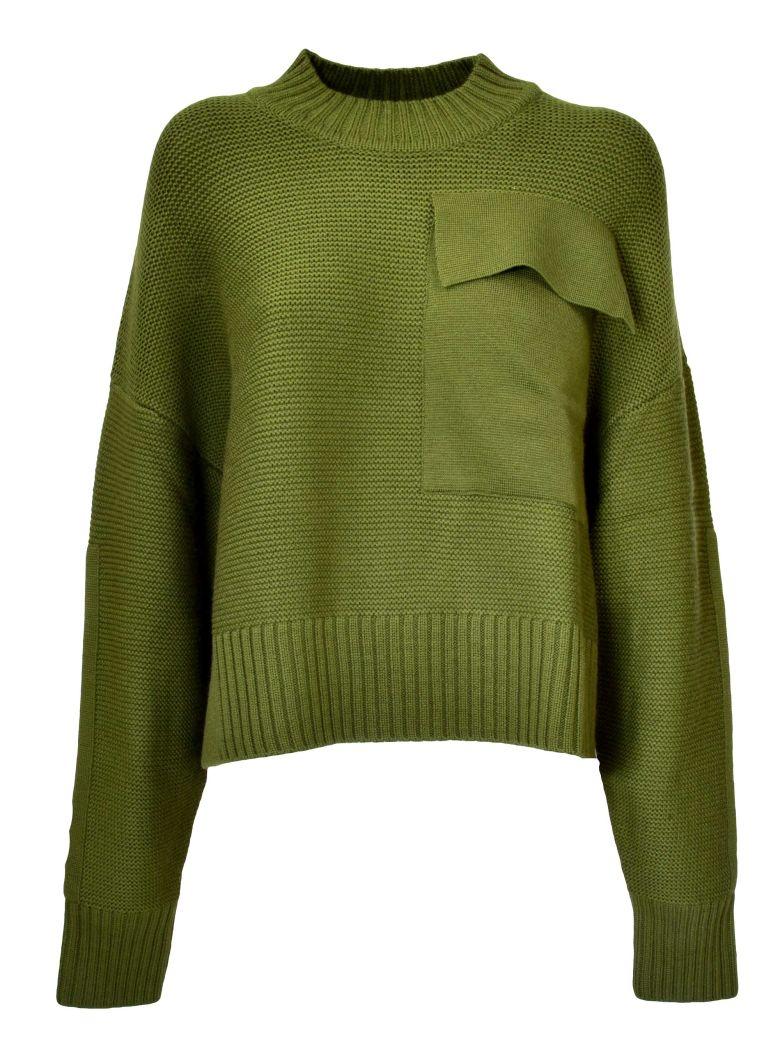 Jil Sander Navy D Chest Pocket Sweater - Dark Green