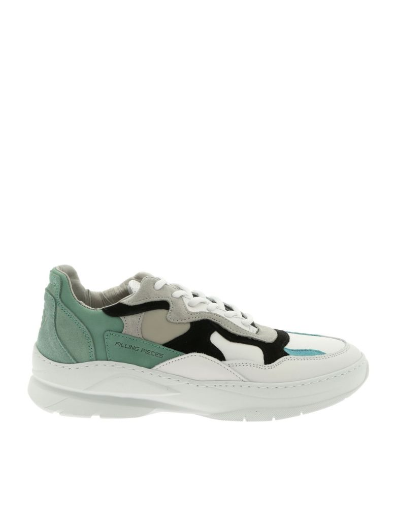 Filling Pieces Sneaker Leather Low Fade Cosmo Infinity Mint - White