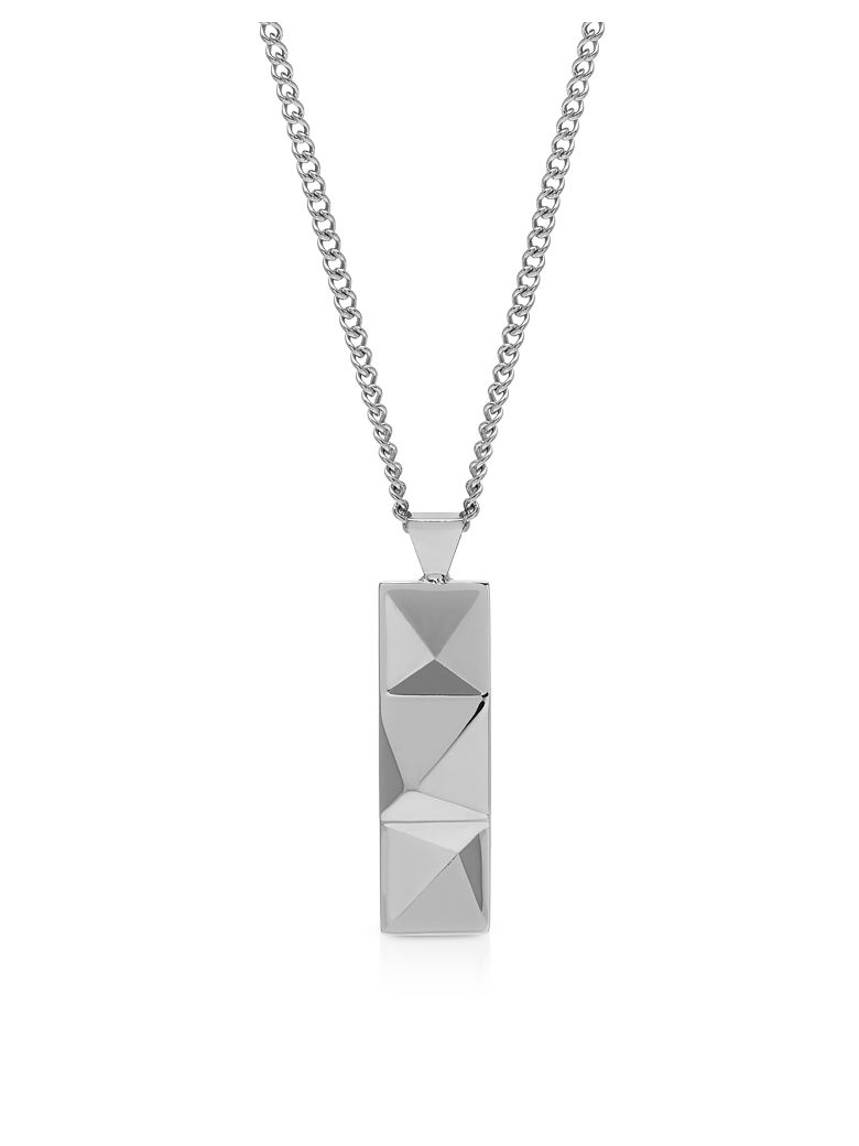 Northskull In N Out Tag Necklace Silver - Silver