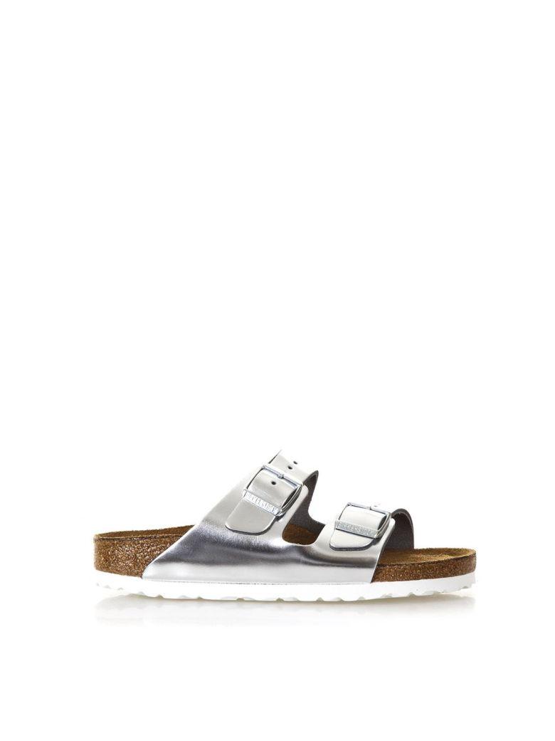 Birkenstock Metallic Silver Arizona Sandals - Silver