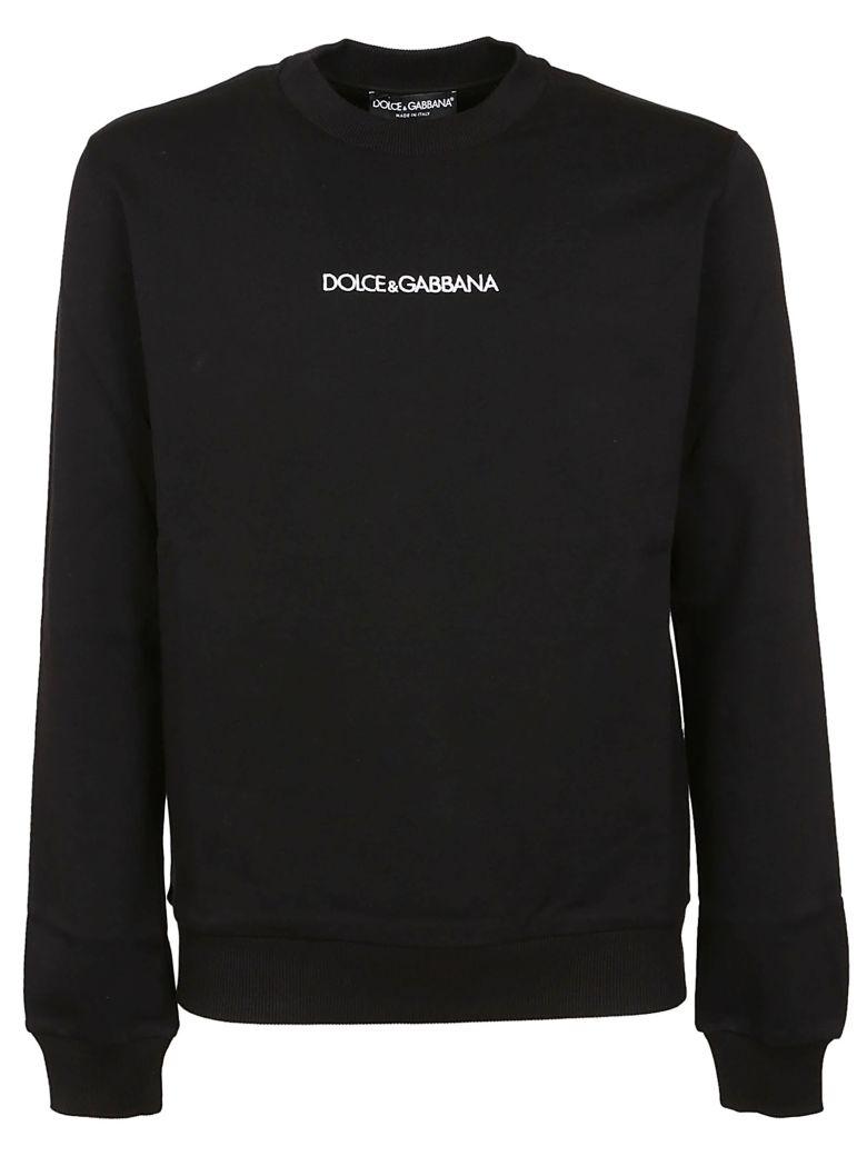 Dolce & Gabbana Logo Print Sweatshirt - Black
