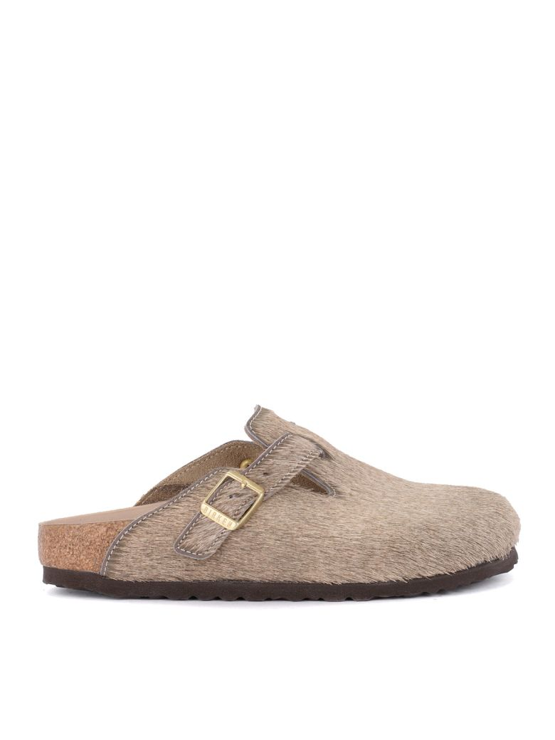 Birkenstock Boston Grey Cow Hair - Premium Sabot - Gray