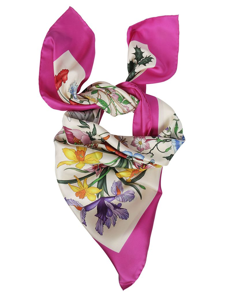 Gucci Floral Scarf - Ivory Pink