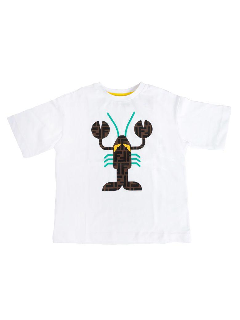 Fendi Kids Lobster Logo Print T-shirt