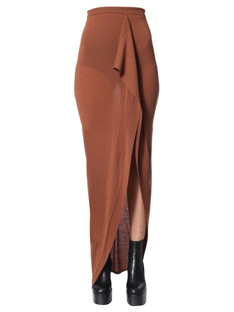 Rick Owens Grace Long Skirt - MARRONE