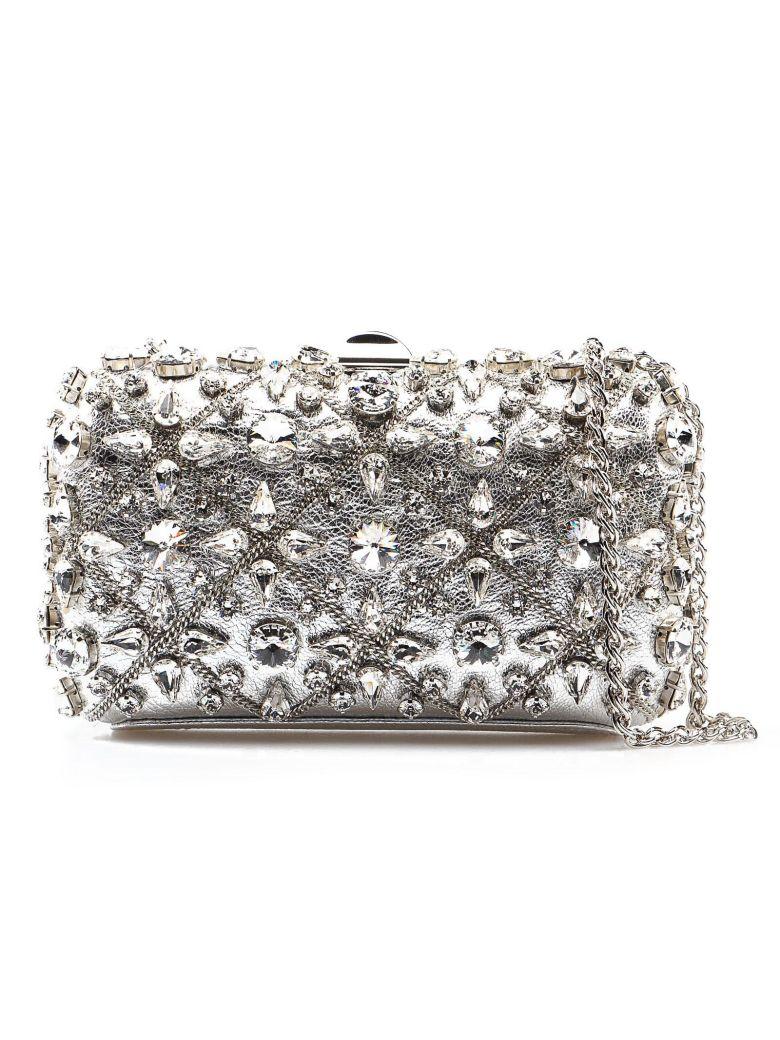 Rodo Embellished Shoulder Bag - Silver