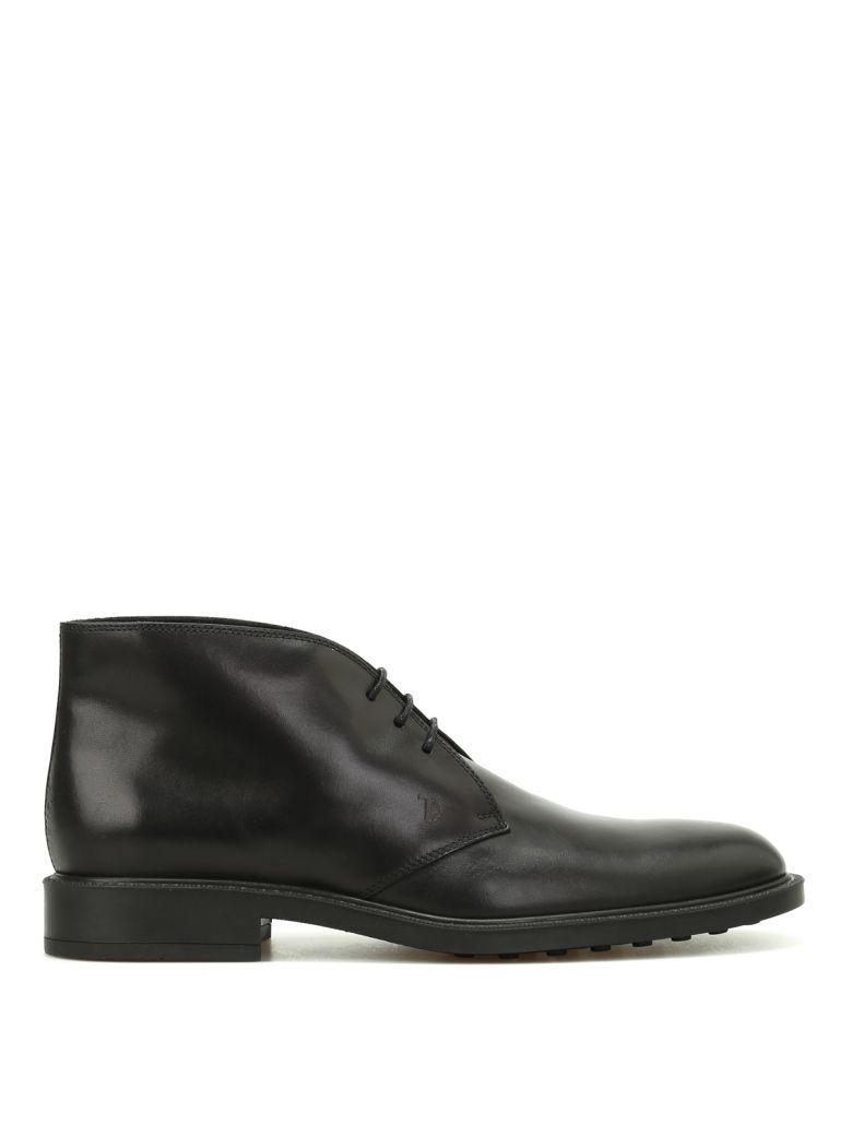 Tod's Leather Desert Boots - Black