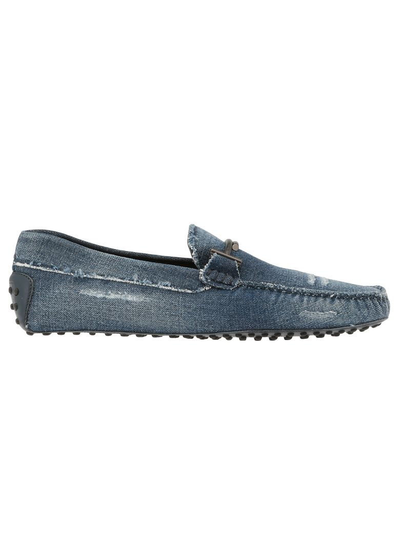 Tod's Cotton Jeans Loafer - U212(JEANS SCURO)+U807(BLU NAV
