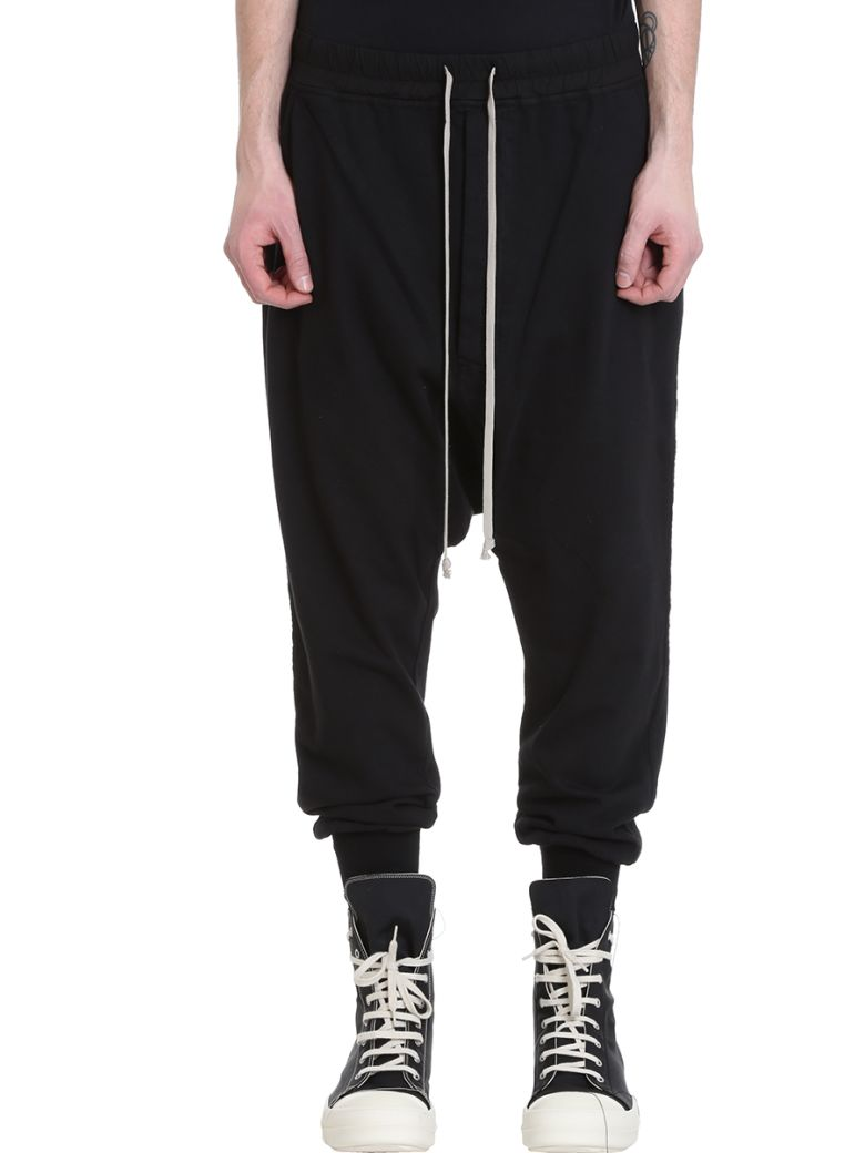 DRKSHDW Drawstring Black Cotton Pants - black