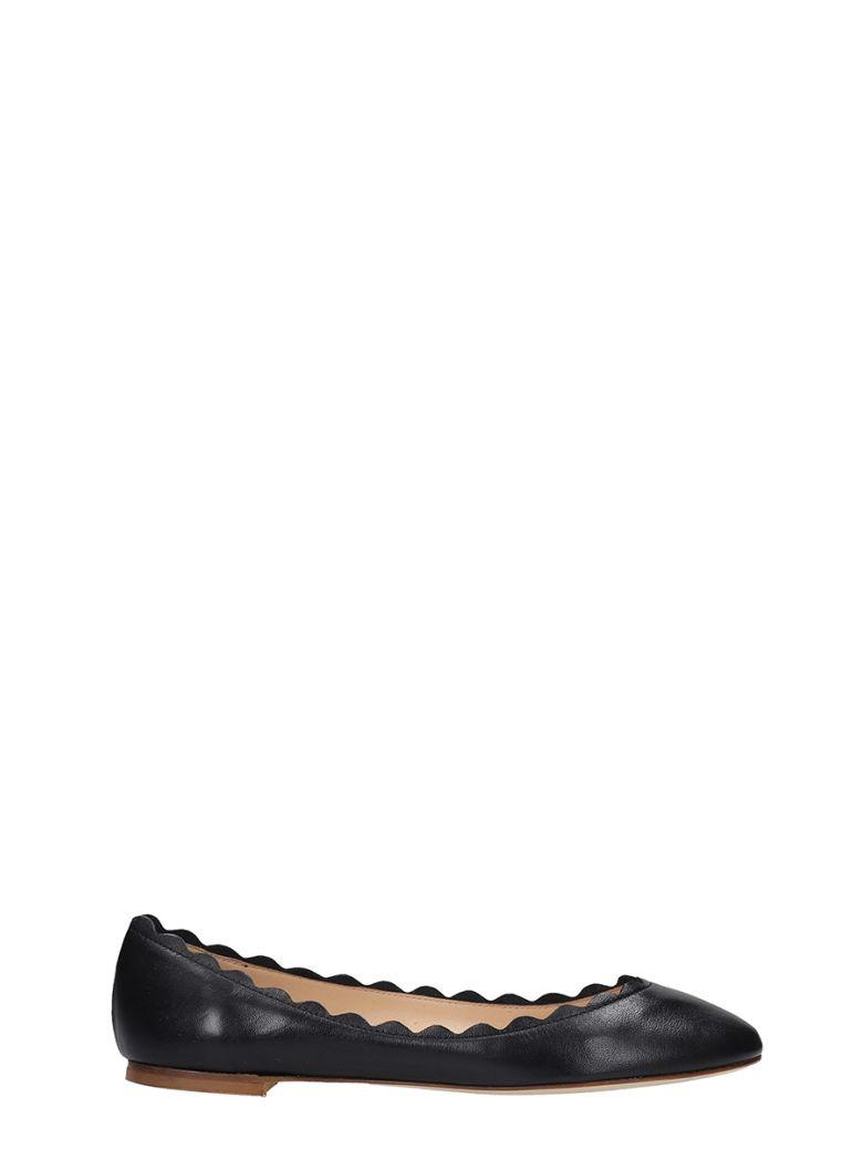 Fabio Rusconi Ballet Flats In Black Leather - black